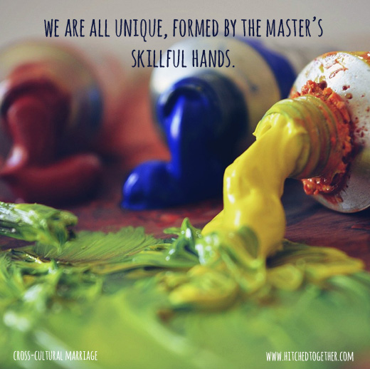 we are all unique formed by the master's skillful hands.