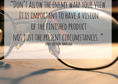 Don't allow the enemy to warp your view of your spouse