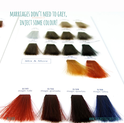 marriages don't need to grey, inject some colour!
