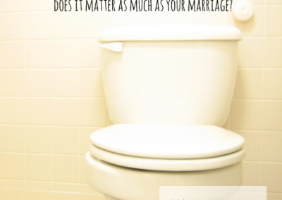 Toilet seat up or down, does it matter as much as your marriage?