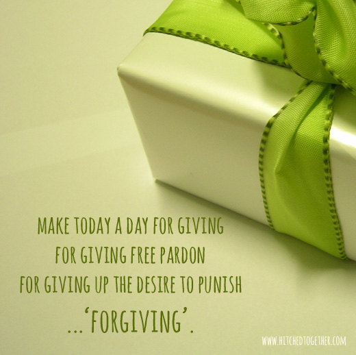 Why you should make today a day for forgiving.
